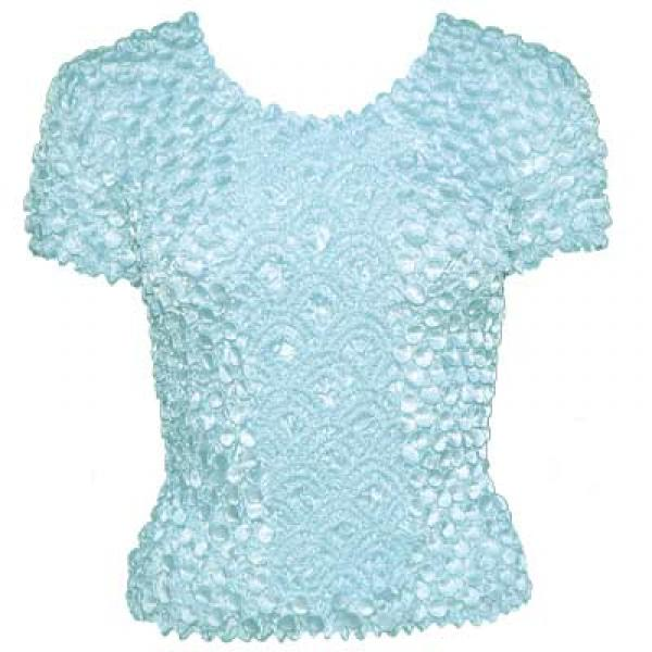 wholesale Coin Fishscale - Short Sleeve Ice Blue - One Size (S-XL)