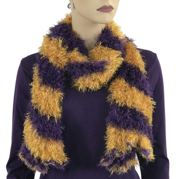 wholesale Original Moa Boa Magic Scarves Stripes Purple-Honey Moa Boa Magic Scarf -