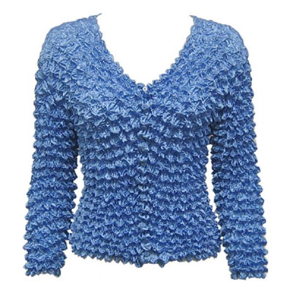 Wholesale Gourmet Popcorn - Collarless Cardigan Denim - One Size (S-XL)