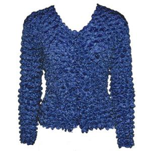 wholesale Gourmet Popcorn - Collarless Cardigan Navy - One Size (S-XL)
