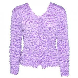 wholesale Gourmet Popcorn - Collarless Cardigan Lilac - One Size (S-XL)