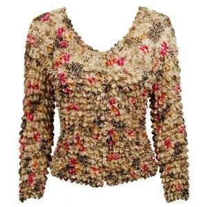 wholesale Gourmet Popcorn - Collarless Cardigan Leopard with Roses - One Size (S-XL)