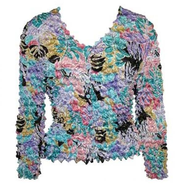 Wholesale Gourmet Popcorn - Collarless Cardigan Tropical Breeze - One Size (S-XL)