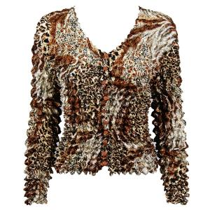 wholesale Gourmet Popcorn - Collarless Cardigan Patchwork Leopard - One Size (S-XL)
