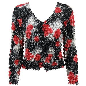 wholesale Gourmet Popcorn - Collarless Cardigan Spray of Roses - One Size (S-XL)