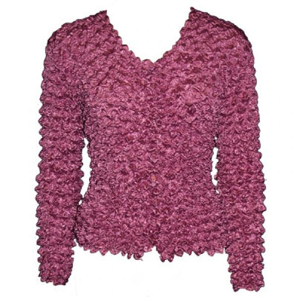 Wholesale Gourmet Popcorn - Collarless Cardigan Maroon - One Size (S-XL)