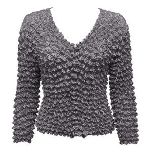 wholesale Gourmet Popcorn - Collarless Cardigan Charcoal - One Size (S-XL)