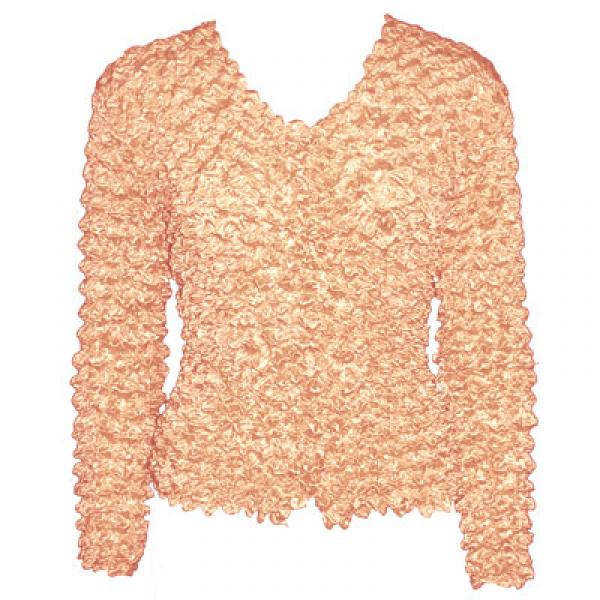 Wholesale Gourmet Popcorn - Collarless Cardigan Peach - One Size (S-XL)