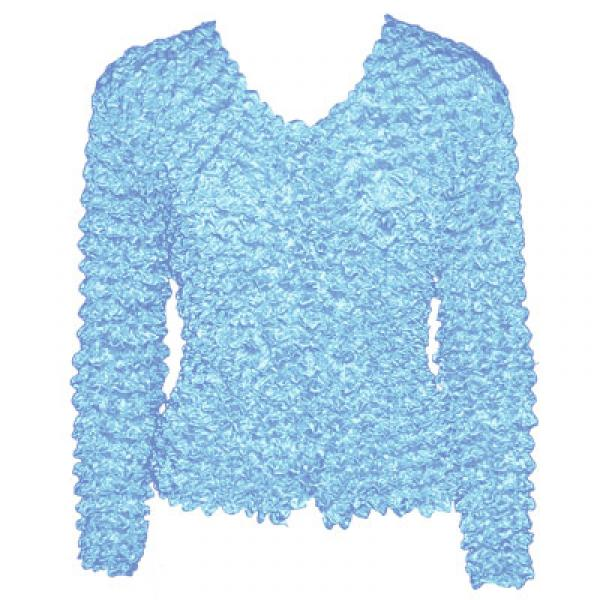 Wholesale Gourmet Popcorn - Collarless Cardigan Sky Blue - One Size (S-XL)