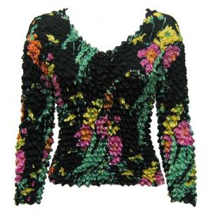 wholesale Gourmet Popcorn - Collarless Cardigan Floral Fantasy - One Size (S-XL)