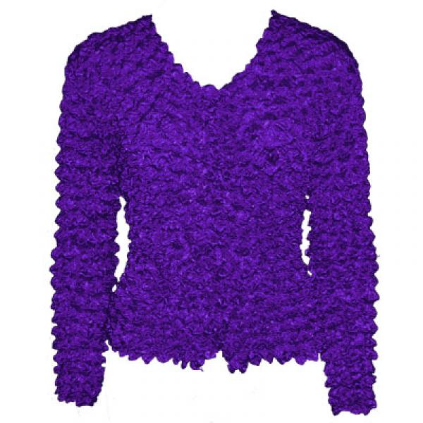 Wholesale Gourmet Popcorn - Collarless Cardigan Royal Purple - One Size (S-XL)