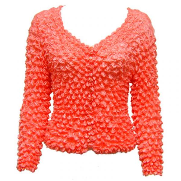 Wholesale Gourmet Popcorn - Collarless Cardigan Tangerine - One Size (S-XL)
