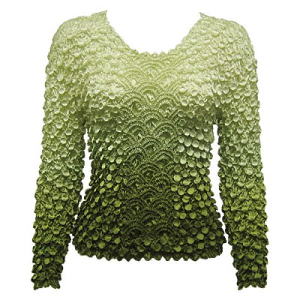 Wholesale Coin Fishscale - Long Sleeve Variegated Olive Coin Fishscale - Long Sleeve - One Size (S-XL)