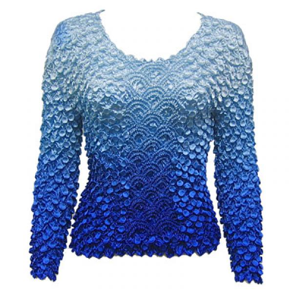 Wholesale Coin Fishscale - Long Sleeve Variegated Blue Coin Fishscale - Long Sleeve - One Size (S-XL)