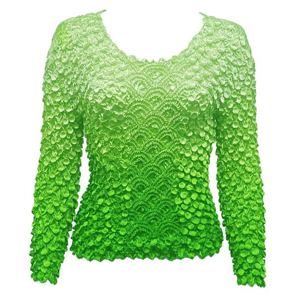 Wholesale Coin Fishscale - Long Sleeve Variegated Green Coin Fishscale - Long Sleeve - One Size (S-XL)