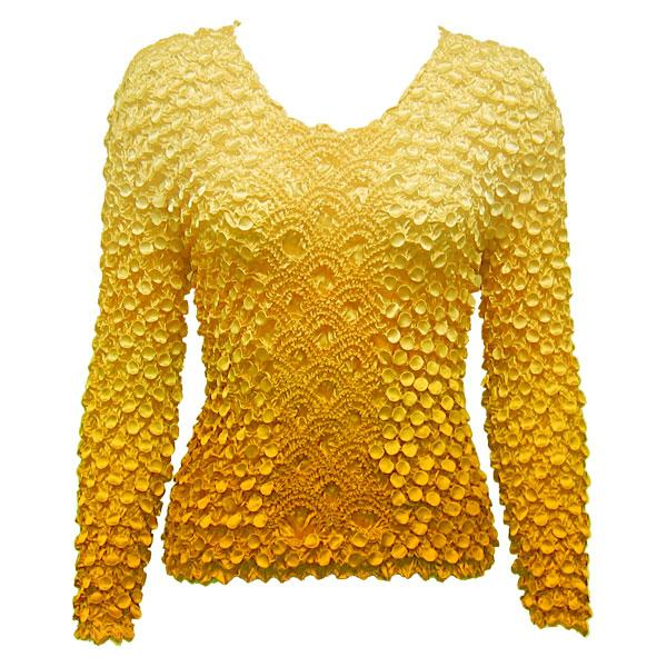 Wholesale Coin Fishscale - Long Sleeve Variegated Yellow Coin Fishscale - Long Sleeve - One Size (S-XL)
