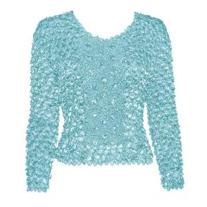 Wholesale  Ice Blue Coin Fishscale - Long Sleeve - One Size (S-XL)