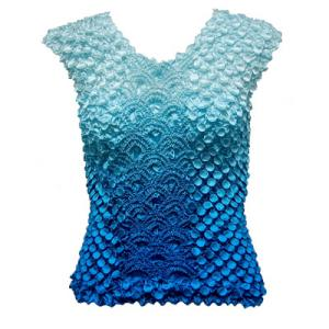 Wholesale Coin Fishscale - Sleeveless Variegated Turquoise - One Size (S-XL)