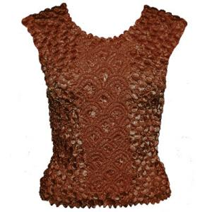 Wholesale Coin Fishscale - Sleeveless  Brown - One Size (S-XL)
