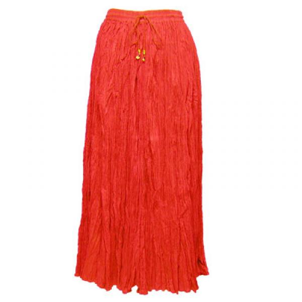 Wholesale Red Hatters Selections Skirt - Broomstick with Pocket - Red - One Size (S-XL)