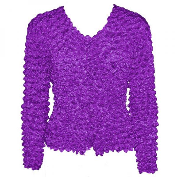 Wholesale Red Hatters Selections Popcorn - Gourmet Cardigan Collarless Amethyst - One Size (S-XL)