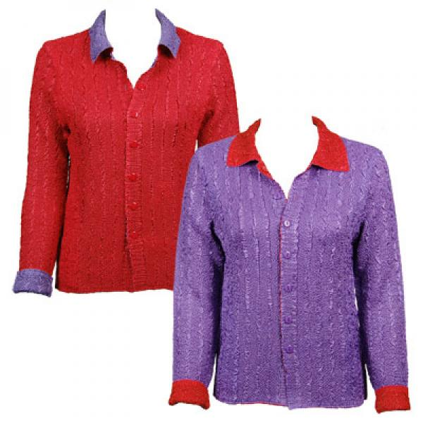 Wholesale Red Hatters Selections Jacket - Reversible Red-Purple S-M - S-M