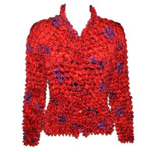 wholesale Red Hatters Selections Popcorn - Gourmet Cardigan Red Garden - One Size (S-XL)