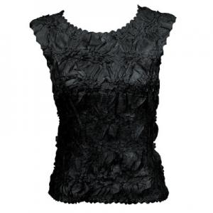 Wholesale Origami - Sleeveless Solid Black - One Size (S-XL)