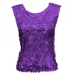 Wholesale Origami - Sleeveless Solid Purple - One Size (S-XL)