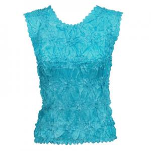 Wholesale Origami - Sleeveless Solid Turquoise - One Size (S-XL)