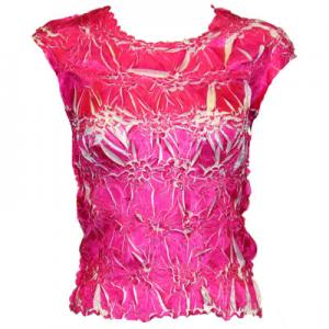 Wholesale Origami - Sleeveless Pink - White - One Size (S-XL)
