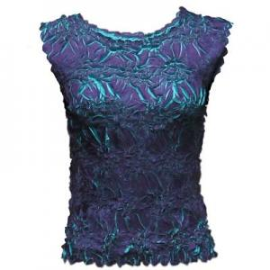 Wholesale Origami - Sleeveless Purple - Turquoise - Queen Size Fits (XL-3X)