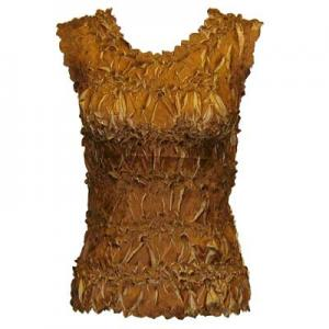 Wholesale Origami - Sleeveless Caramel - Taupe - Queen Size Fits (XL-3X)