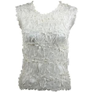 Wholesale Origami - Sleeveless Solid Ivory - One Size (S-XL)