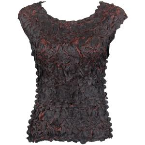 Wholesale Origami - Sleeveless Black - Brown - One Size (S-XL)