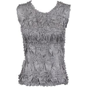 Wholesale Origami - Sleeveless Solid Pewter - One Size (S-XL)