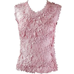Wholesale Origami - Sleeveless Solid Dusty Pink - Queen Size Fits (XL-3X)
