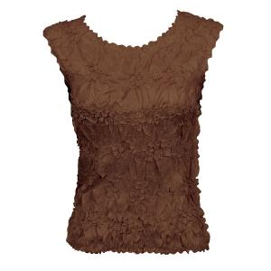 Wholesale Origami - Sleeveless Solid Brown - Queen Size Fits (XL-3X)