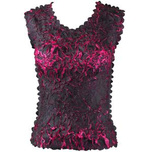 Wholesale Origami - Sleeveless Black - Hot Pink - Queen Size Fits (XL-3X)