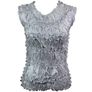 Wholesale Origami - Sleeveless Solid Platinum - Queen Size Fits (XL-3X)