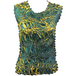 Wholesale Origami - Sleeveless Navy - Yellow - One Size (S-XL)