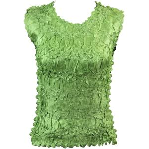 Wholesale Origami - Sleeveless Solid Light Green - One Size (S-XL)