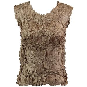 Wholesale Origami - Sleeveless Solid Champagne - Queen Size Fits (XL-3X)
