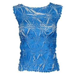 Wholesale Origami - Sleeveless Cornflower Blue - White - One Size (S-XL)