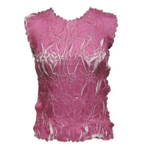 Wholesale Origami - Sleeveless Raspberry - White - One Size (S-XL)