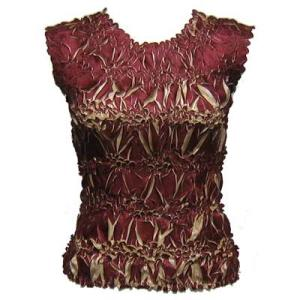 Wholesale Origami - Sleeveless Maroon - Sand - One Size (S-XL)