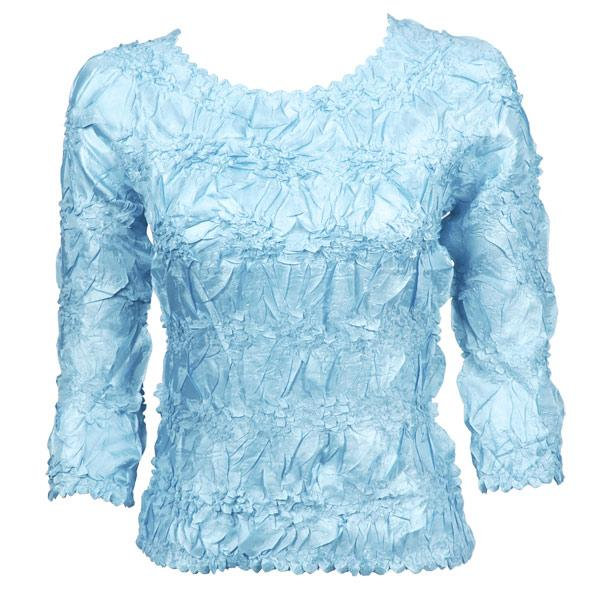 Wholesale Origami - Three Quarter Sleeve Solid Light Blue - One Size (S-XL)
