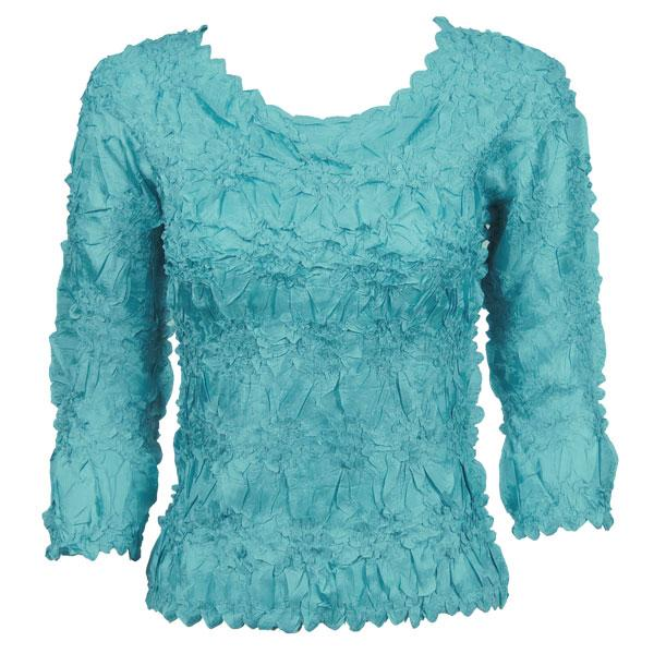 Wholesale Origami - Three Quarter Sleeve Solid Light Turquoise - One Size (S-XL)