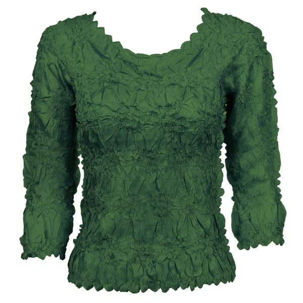 Wholesale Origami - Three Quarter Sleeve Solid Hunter Green - Queen Size Fits (XL-3X)