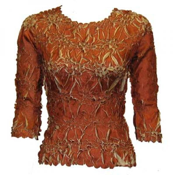 Wholesale Origami - Three Quarter Sleeve Paprika - Sand - Queen Size Fits (XL-3X)